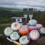 Merlin cheeses selection with wine glasses