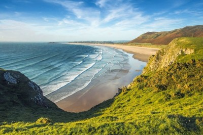 Welsh coast view faster internet Wales