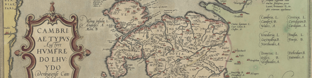 humphrey llwyd map national library of wales