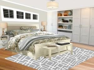 virtual room makeover, master bedroom, built-in wall closet