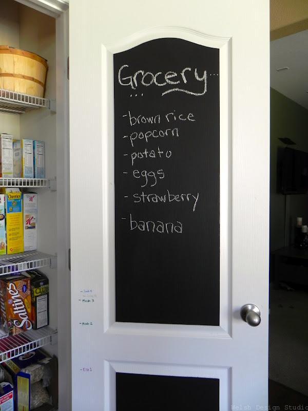 diy chalkboard door