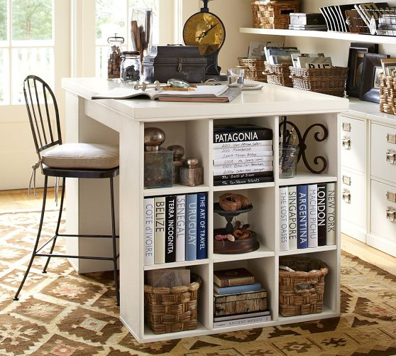 pottery barn bedford craft table