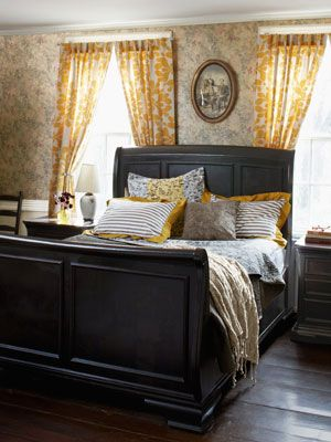 country living master bedroom