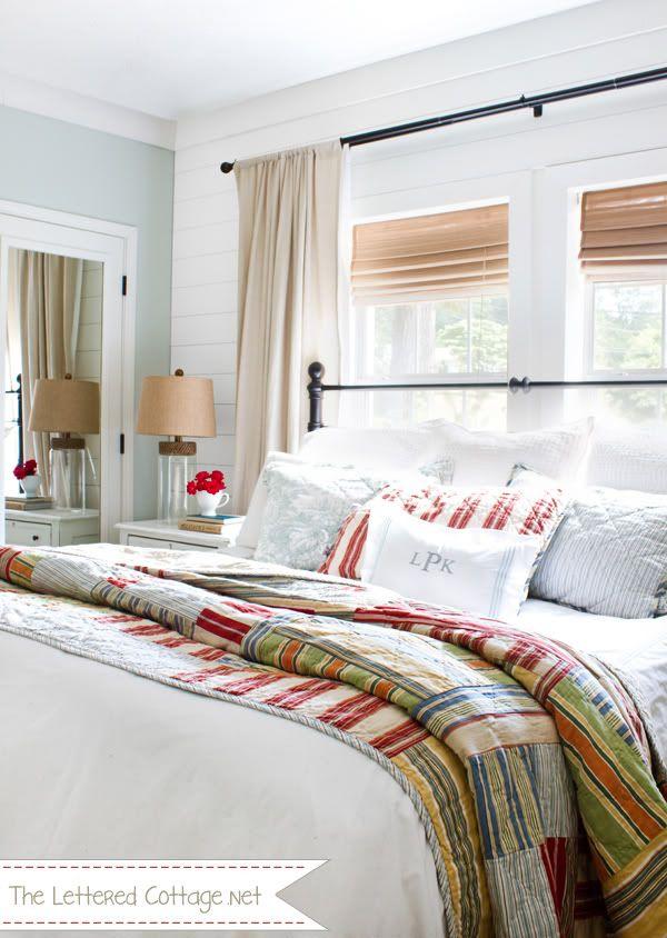 lettered cottage master bedroom