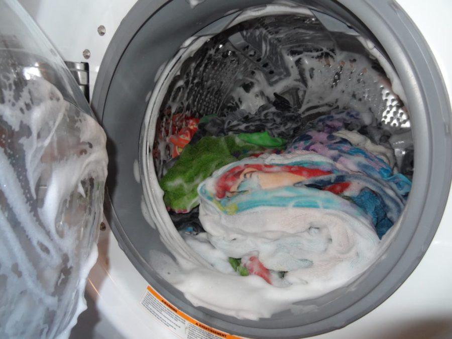 excess suds in washing machine