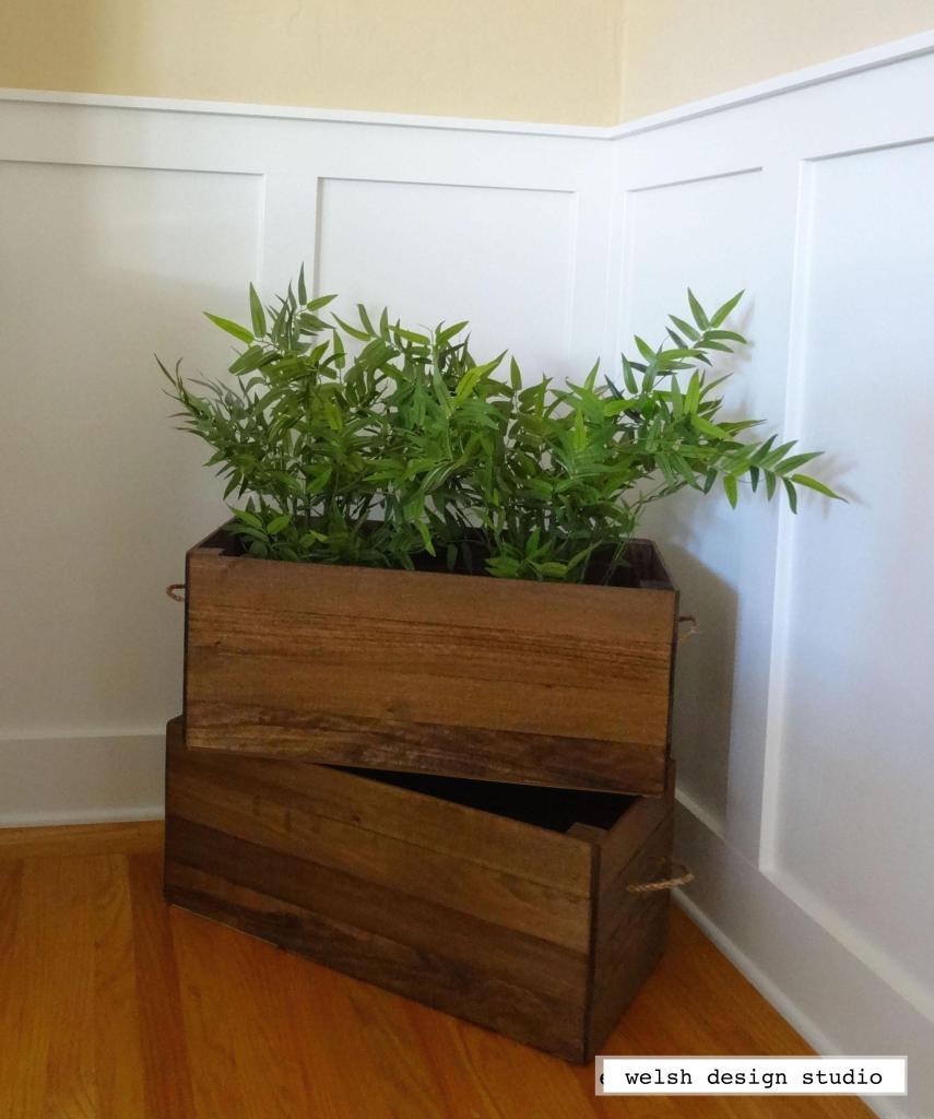 DIY vintage wood crates