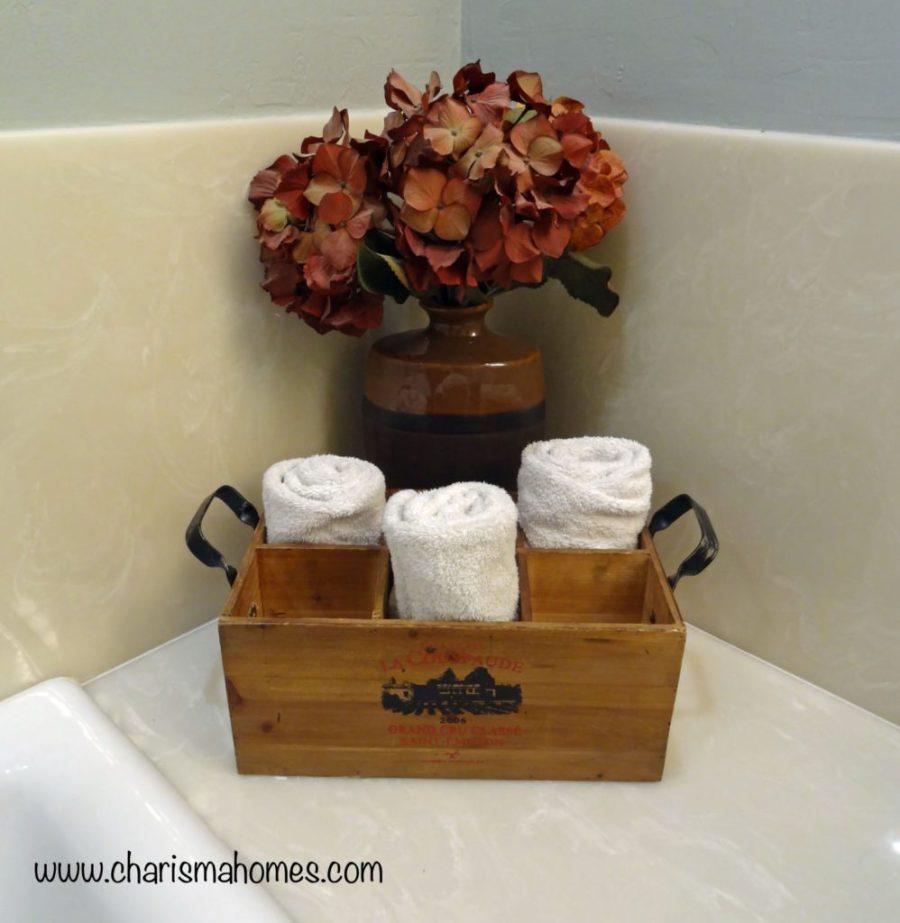 wine crate towel holder