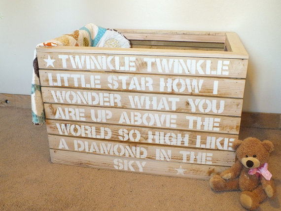 wooden toy crate