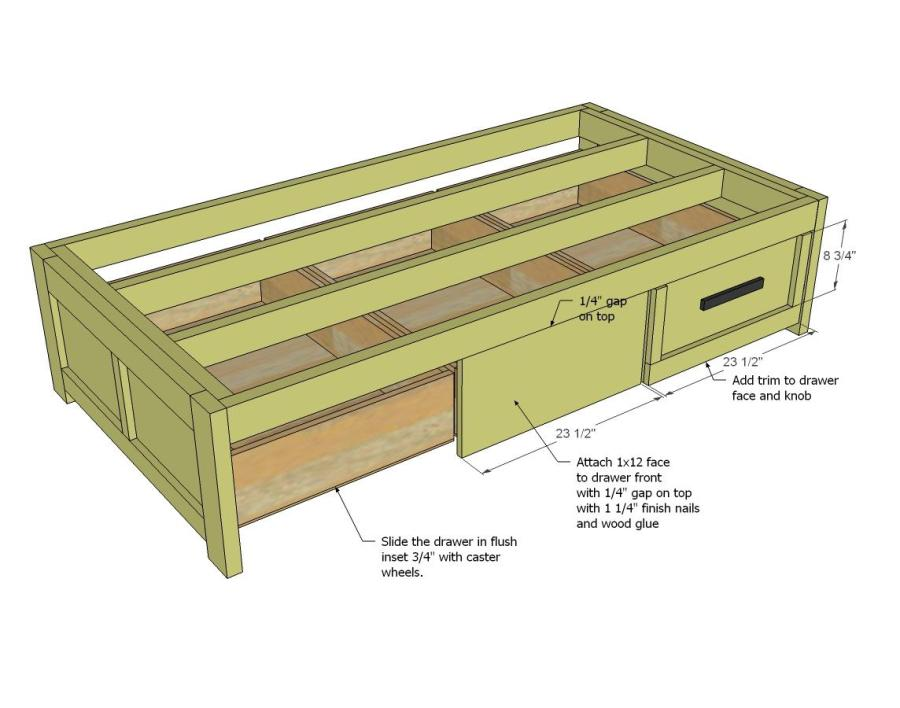 daybed with trundle plans