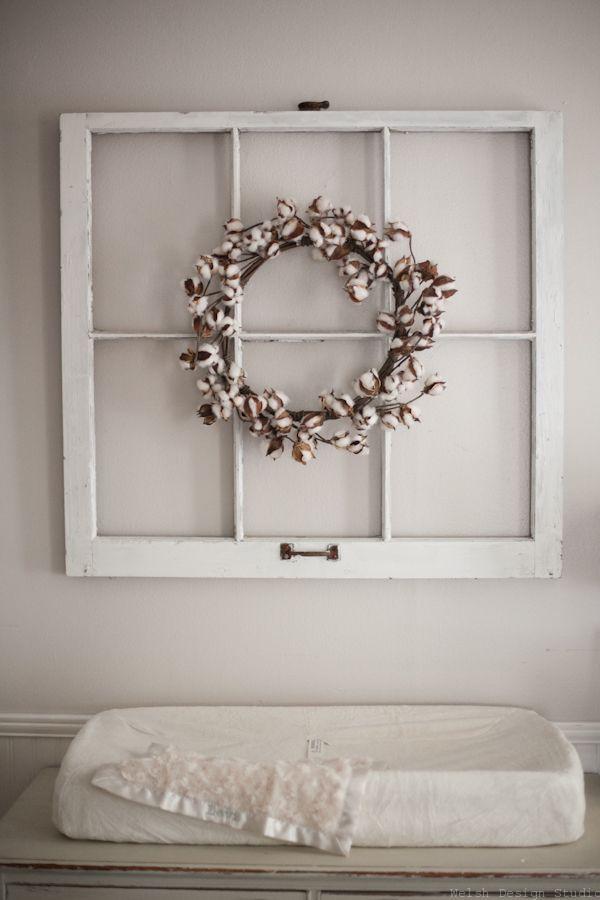 cotton wreath in nursery