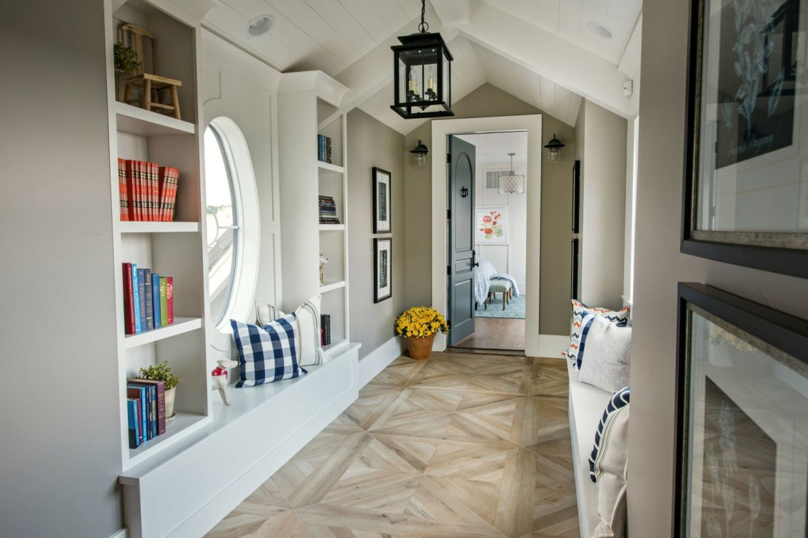 hallway benches and reading nooks
