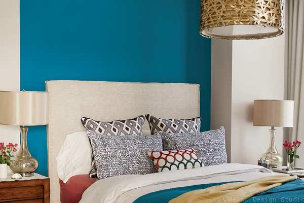 PPG blue paisley bedroom paint