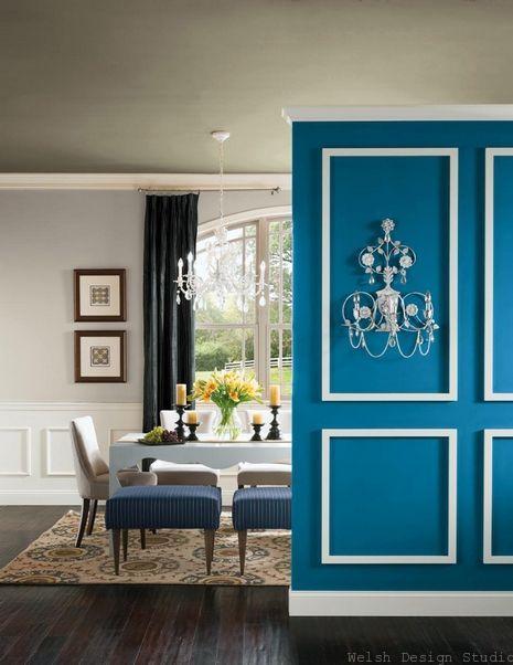 blue paisley paint color living room