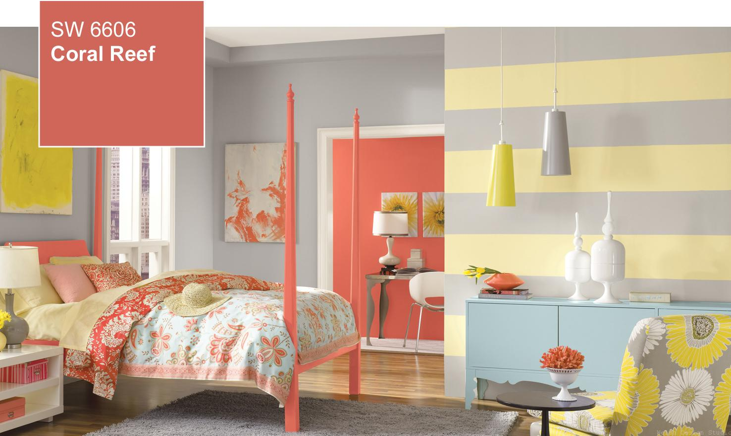 sherwin williams coral reef girls bedroom
