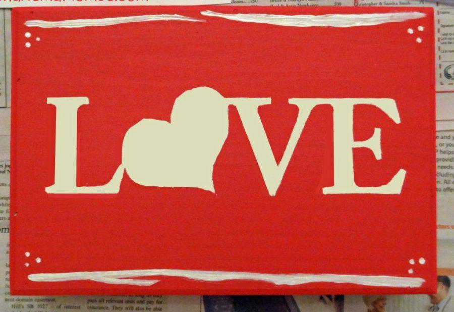 easy diy valentine's day sign