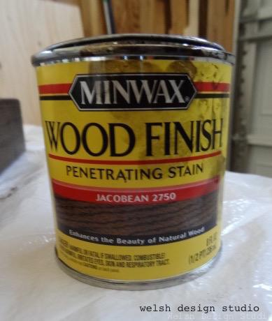 Minwax Jacobean stain for easy DIY bench