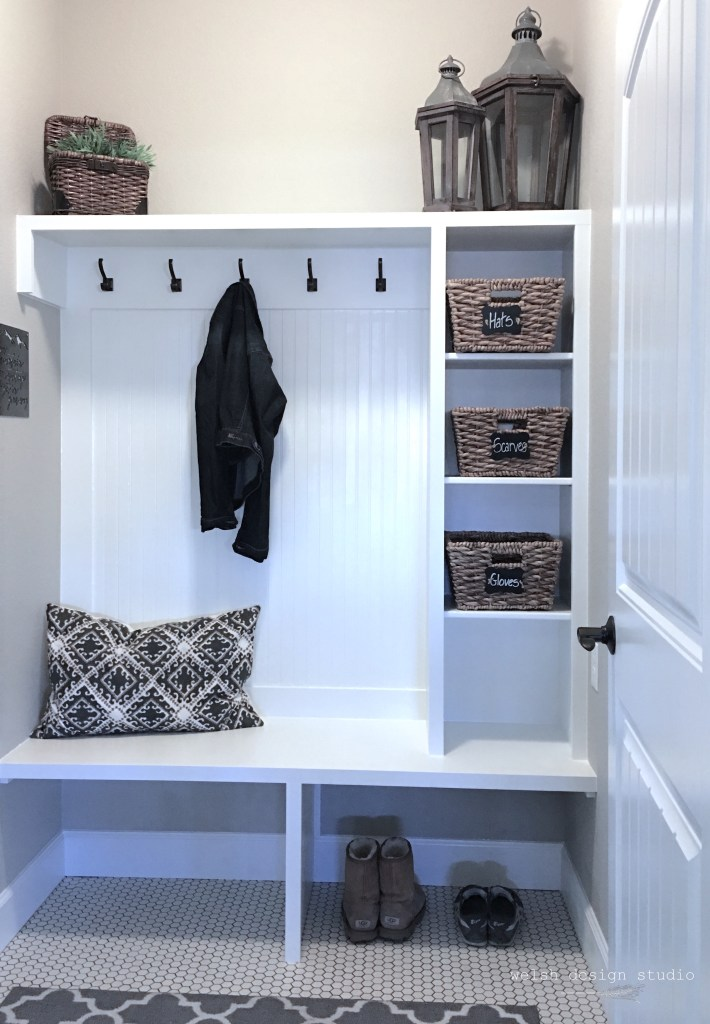 mudroom makeover functional new design