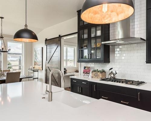 black farmhouse kitchen cabinets