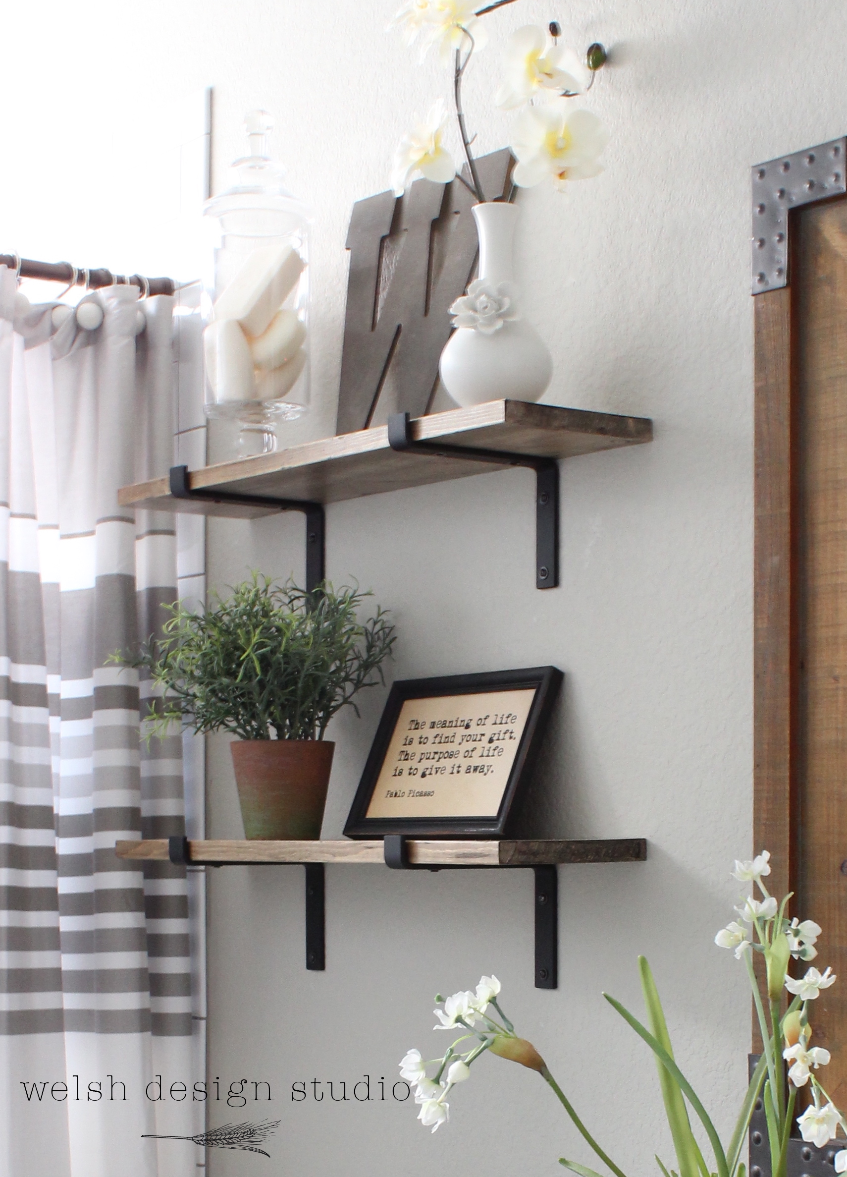 diy industrial shelves for the bathroom – welsh design studio