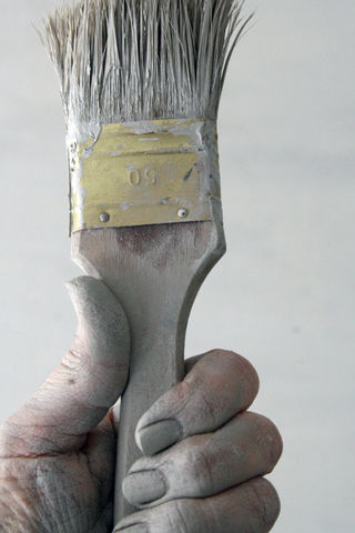 gray paint brush