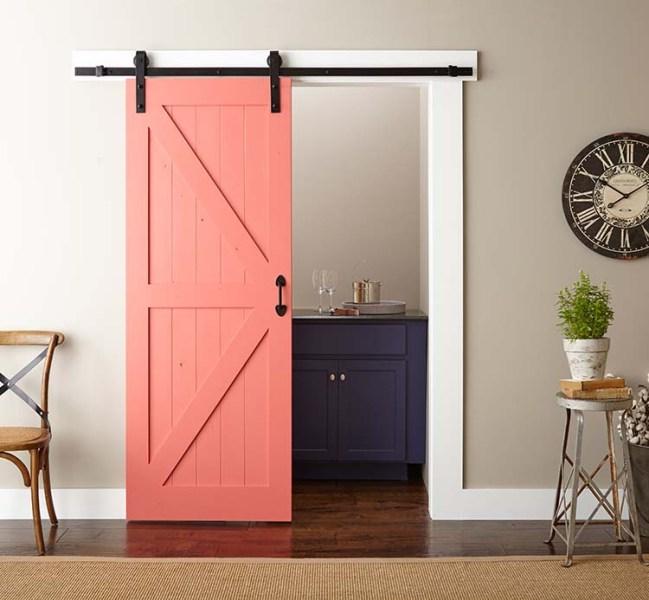 coral barn door