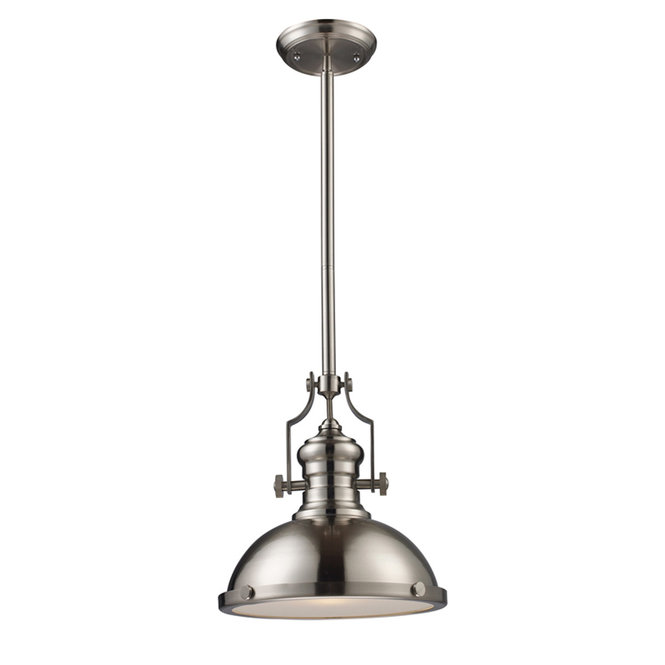Industrial Caged Pendant With Rivets: Pendant Lights For An Industrial Farmhouse Kitchen