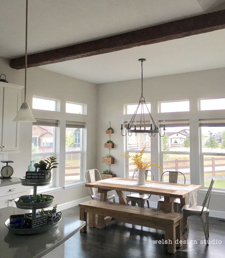 Before And After Merging Two Rooms Has Created A Super: We Installed A Faux Wood Beam In The Kitchen!