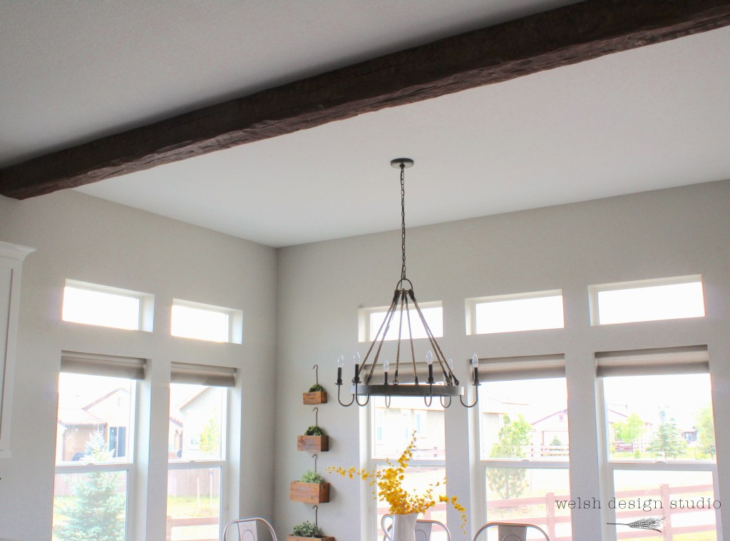 At Home Depot Styrofoam Beams ~ We installed a faux wood beam in the kitchen welsh