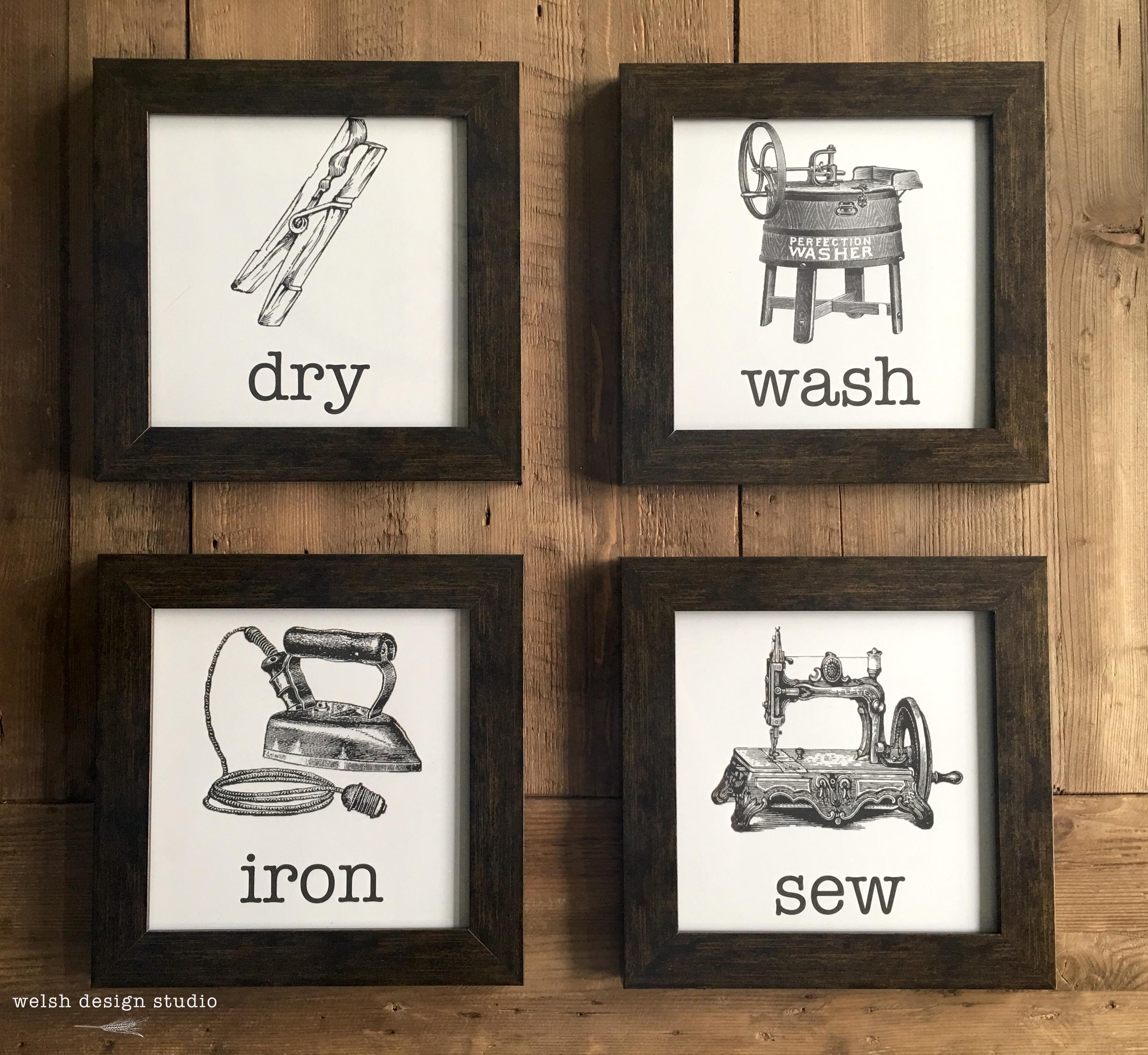 Easy Vintage Laundry Room Artwork Amp Free Printables