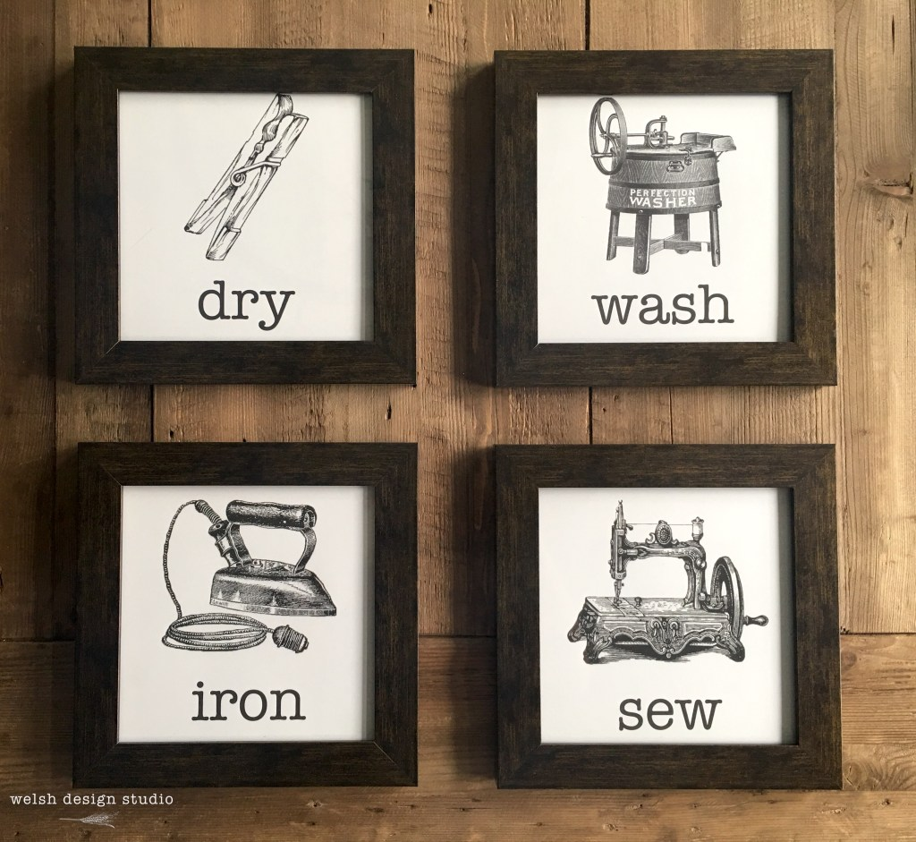 farmhouse diy laundry artwork