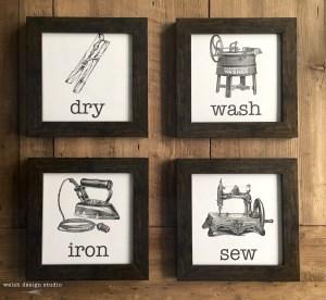 farmhouse diy laundry artwork