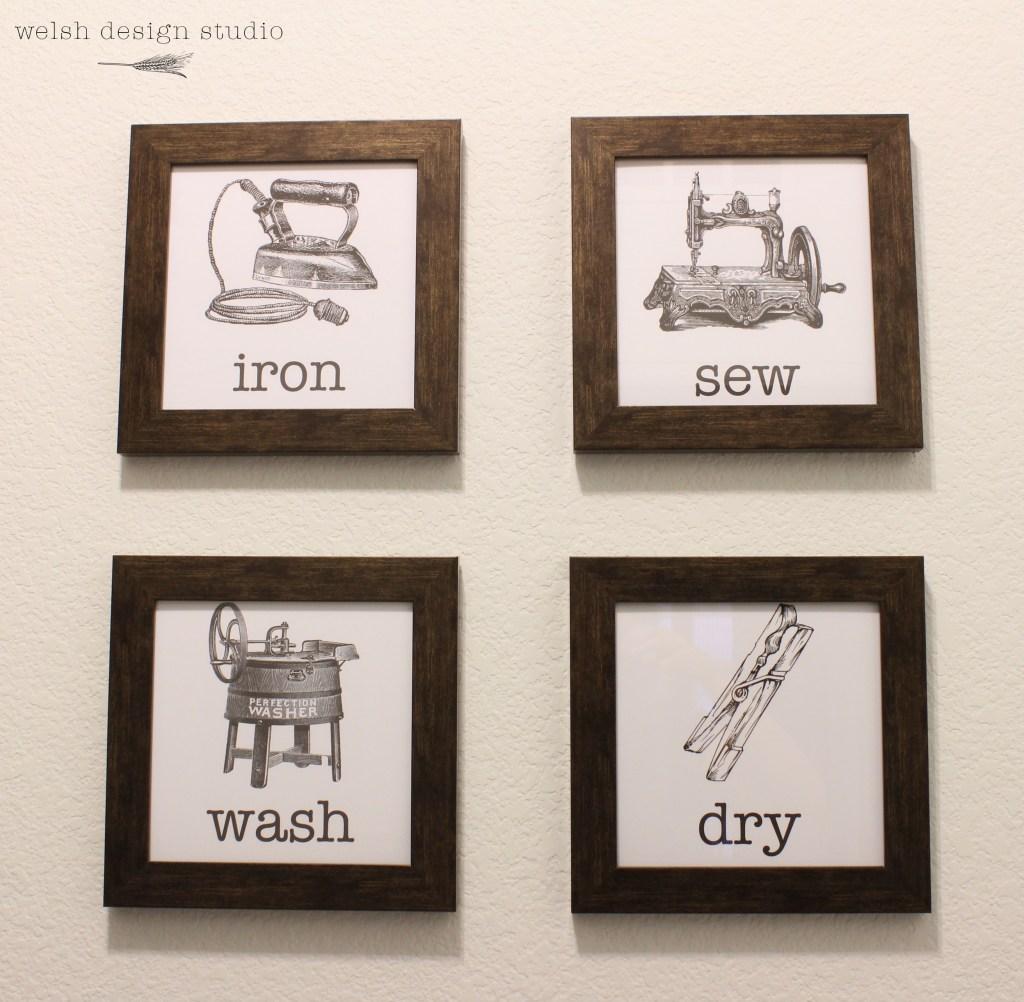vintage laundry room artwork