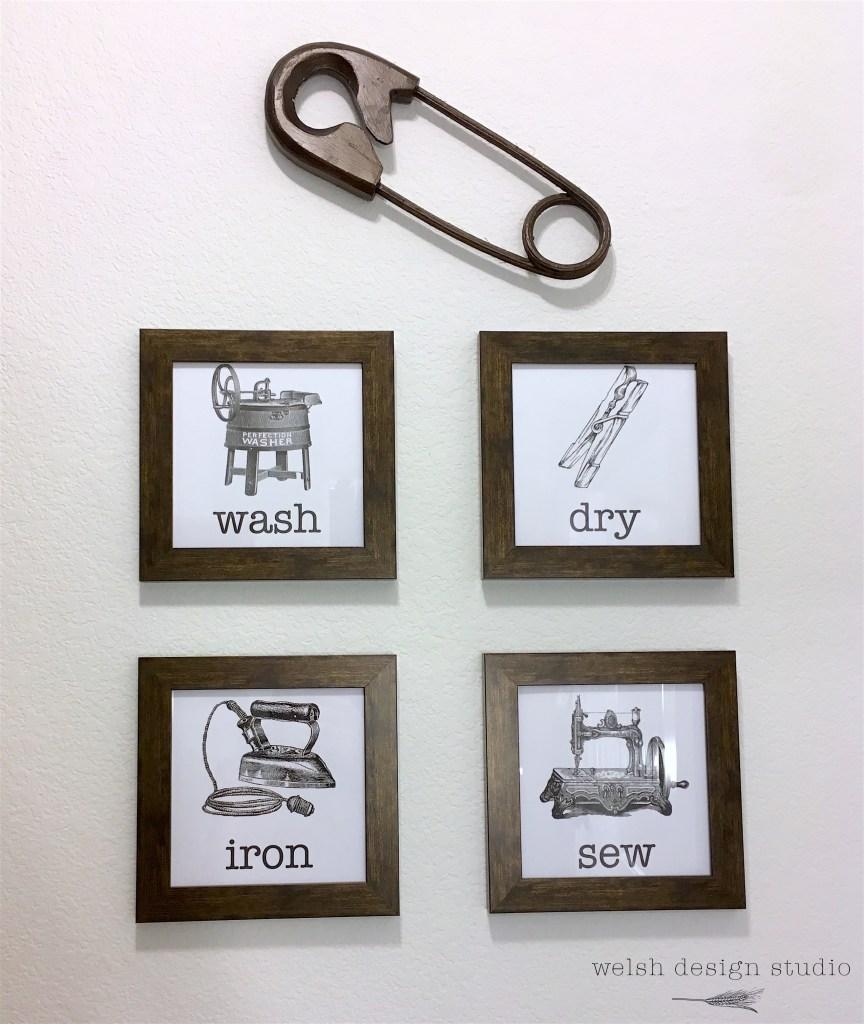 laundry room printable artwork