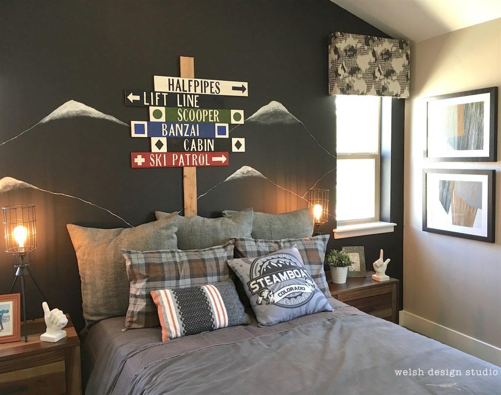 snowboard bedroom