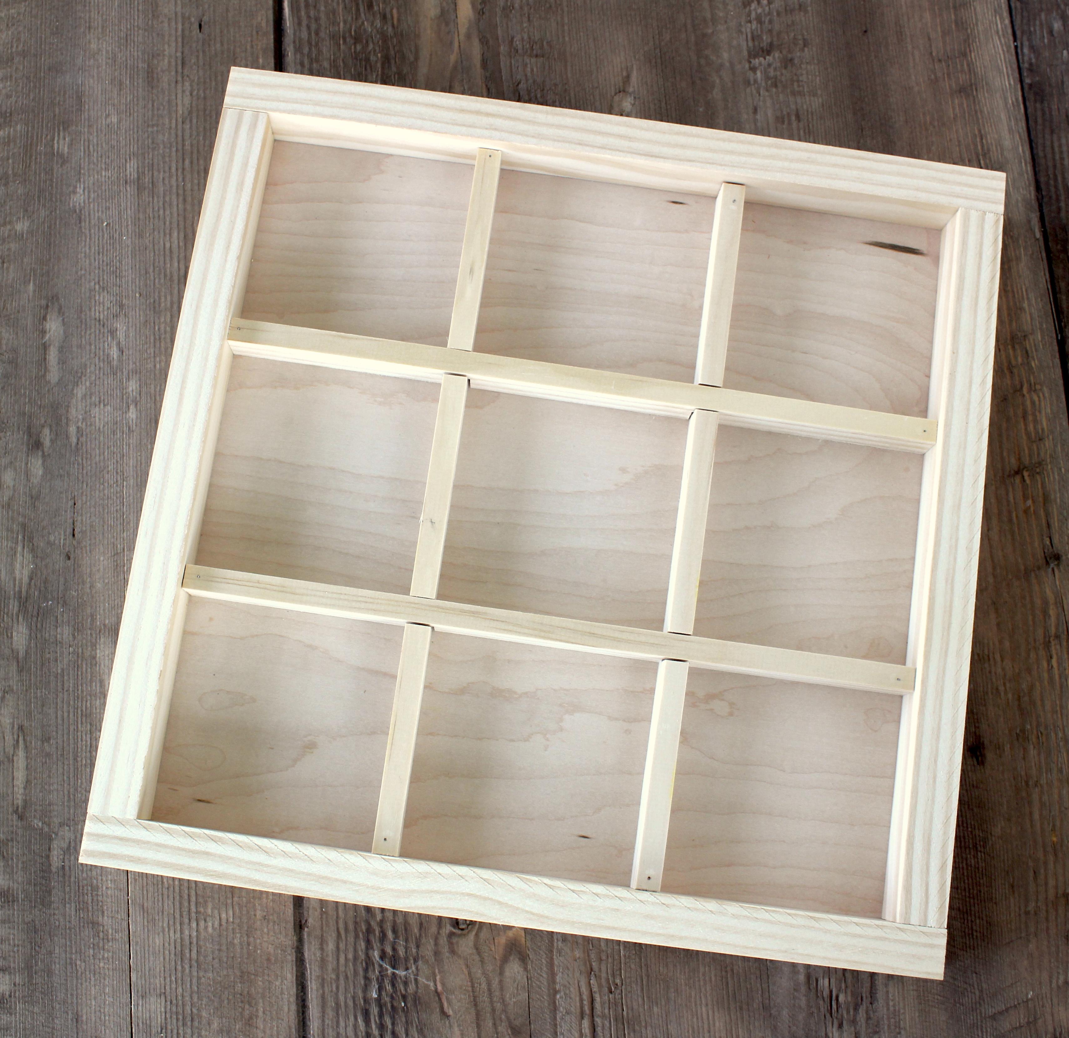 divided wood tray