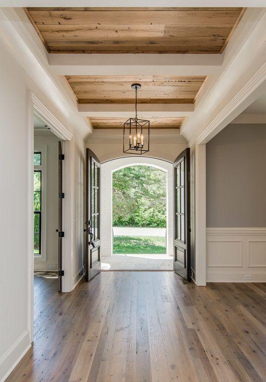 plank wood ceiling