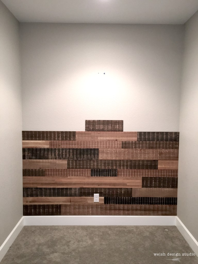 how to install a reclaimed wood wall