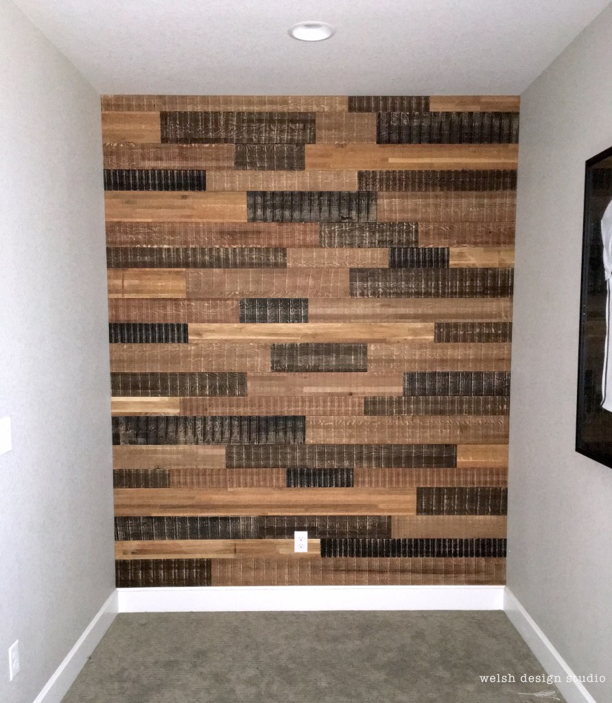 how to install barn wood