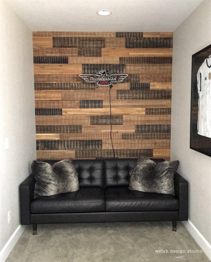 reclaimed wood wall teen boys bedroom