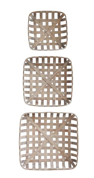 wood tobacco baskets