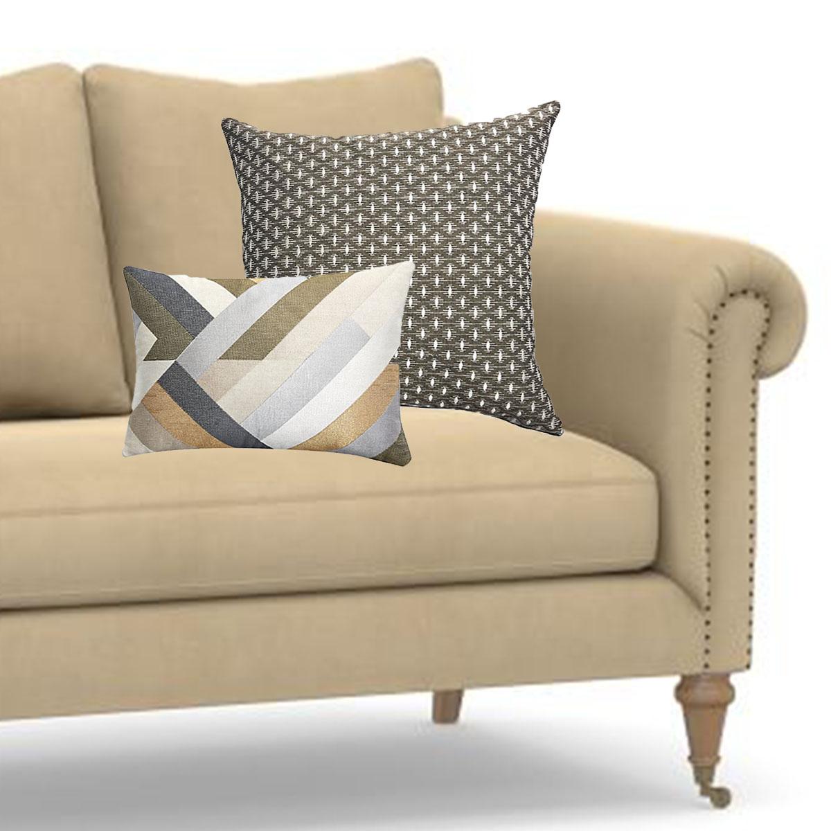 Coordinate Tan Sofa Pillows