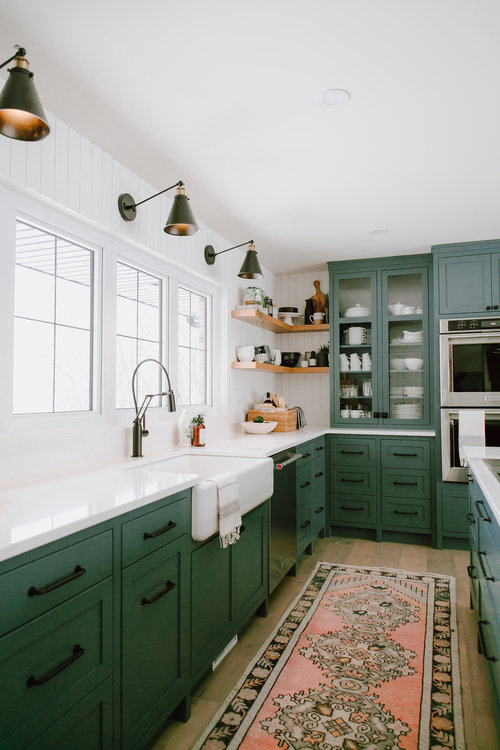 lovely emerald green kitchen cabinets | Decorating with Emerald Green – Welsh Design Studio
