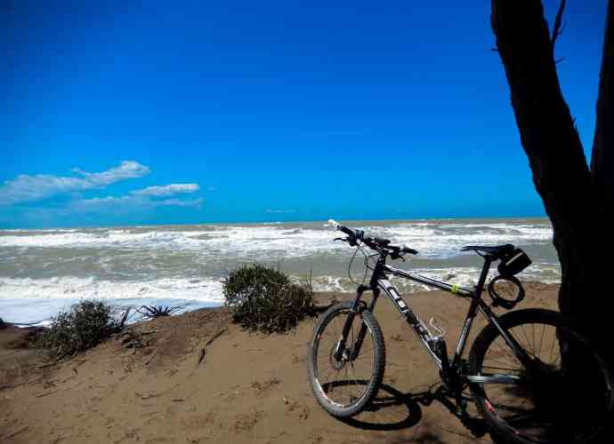 Mountainbike am Meer
