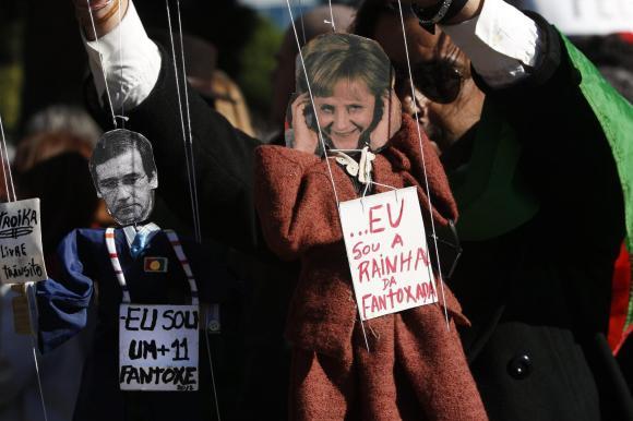 German Chancellor Angela Merkel visits Portugal (2)