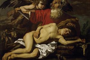 """<br />""""Die Opferung Isaaks"""" von Matthias Stomer um 1600 - nach 1650: Der Urgedanke des Menschenopfers liegt auch der Beschneidung zugrunde: Sie ist der Ersatz für das """"Ganzkörperopfer""""<br />"""