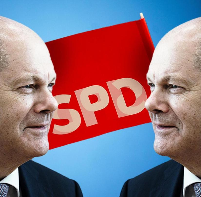 The SPD is fighting for its identity.  No wonder that Olaf Scholz feels the same way