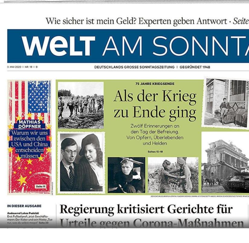 WELT AM SONNTAG from May 3rd, 2020