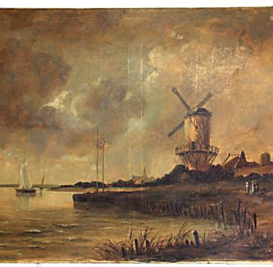 """The painting """"The Wijk Mill"""" is signed van Gogh"""