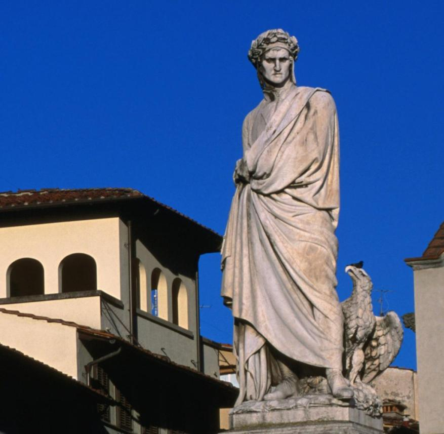 Dante statue in Florence (Italy)