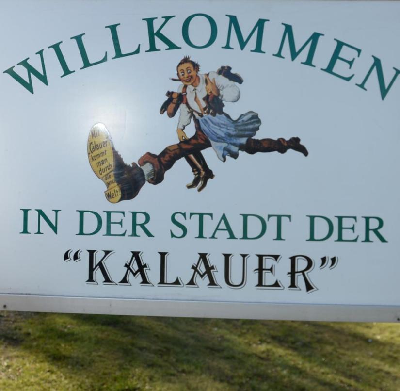 Calau in Brandenburg is the city of jokes